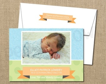 New Baby Birth Announcement Photo Card