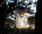 Mason Jar Solar Lanterns Centerpiece or Path Lighting Rustic Wedding Decor