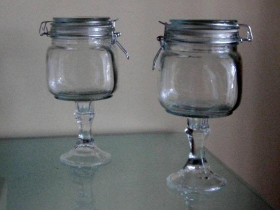Glass Flip Lid Country Candy Buffet Jars Rustic Mason Wedding