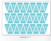 DIY Wedding Mini Cake Banner, Printable Digital Design.