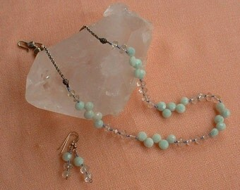 Amazonite necklace with earrings to match