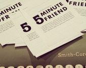 5 MINUTE FRIEND: friendship survey
