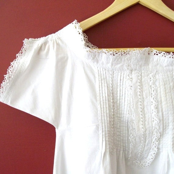 Dated 1881 Restored Antique Victorian Chemise