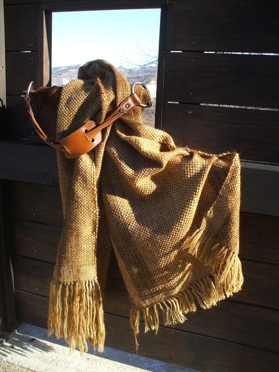 Brown-beige shawl