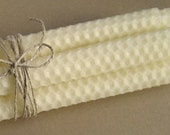 WhiteTall Tapered Beeswax Candles - Set of 4