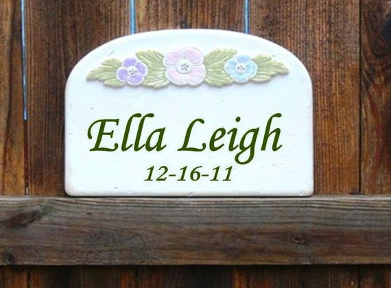 BABY NAME SIGNS.  Handmade Custom Wood Signs. Up to Two Names. Perfect for Baby Gifts and Children.