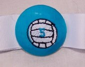 Custom Volleyball ponytail holder