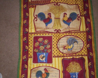 QUILTED ROOSTER WALLHANGING