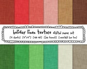 linen texture digital paper christmas holiday colors, winter, festive xmas digital backgrounds for instant download 316
