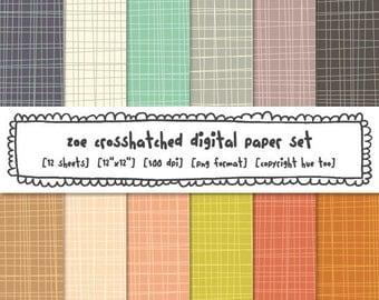digital papers crosshatch, digital backgrounds scrapbooking, photography backgrounds, instant download - 324