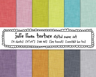 linen texture digital paper bright colors, digital photography backgrounds, pink green blue for instant download - 344
