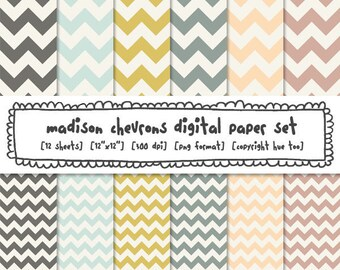 chevron digital backgrounds, digital paper, zig zag photography backgrounds, pink blue mustard, for instant download - 370