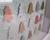 SALE: Metallic Christmas Tree Art