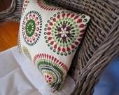 SALE: Mexican tile motif 16x16 pillow