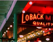 Loback Meat Company in the Pike Place Market of Seattle, Washington (4x12)
