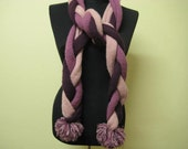 Pink scarf. Pink-lilac-burgundy mix color. Hand crocheted. All season. Openning Sale.
