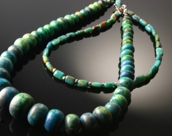 St Lucia- peruvian opal and amazonite necklace