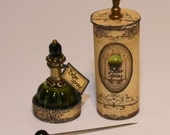 Witch perfume in a round historic box OOAK Dollhouse scale 1/12
