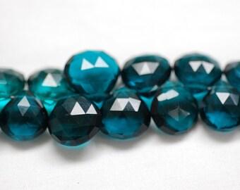 Teal Blue Hydro Quartz Heart