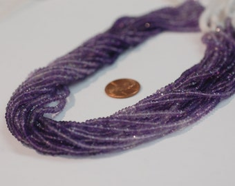 Shaded Amethyst Rondelle Faceted