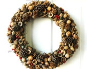 Nut, Pinecone & Seed Wreath