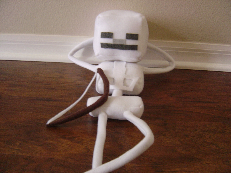 Minecraft Skeleton 23 Plush by CosmicPlushies on Etsy  Minecraft Cute Skeleton