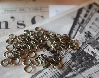 200 pcs Bronze Jump Rings 6mm (BF129)