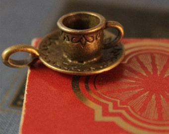 6 pcs Antique Bronze Tea Cup Charms 26 x 18mm (BC178)