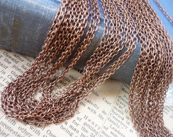 32 Feet Thin Copper Chain 3 x 2mm (CCN556)