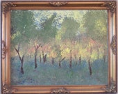 The Orchard, acrylic on canvas, impressionist painting