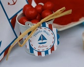 Printable Nautical Birthday Thank You Tags - LOVELY LITTLE PARTY