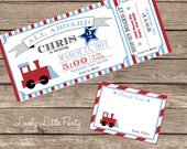 DIY Printable Train Birthday Invitation Kit - Invite AND Thank You Card included