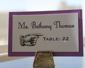 2 - layer vintage  PLACE CARDS - Lovely Little Party