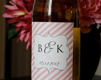 Printable Wine Bottle Labels  - You Choose Color - LOVELY LITTLE PARTY