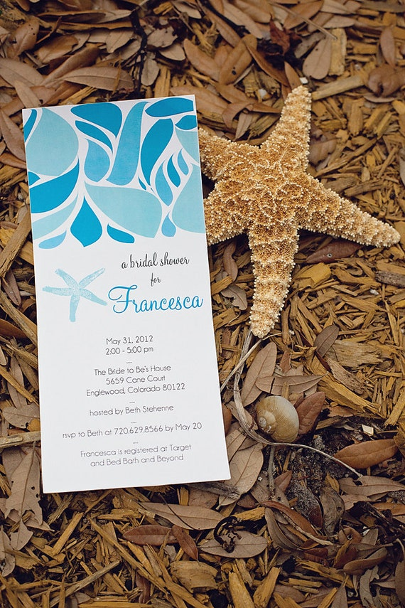 DIY Printable Ocean Inspired BRIDAL SHOWER invite - Lovely Little Party