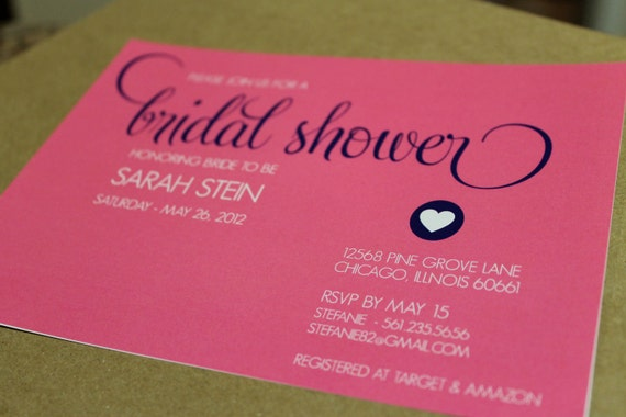 DIY Printable Modern Bridal Shower Invitation - You choose colors - Lovely Little Party