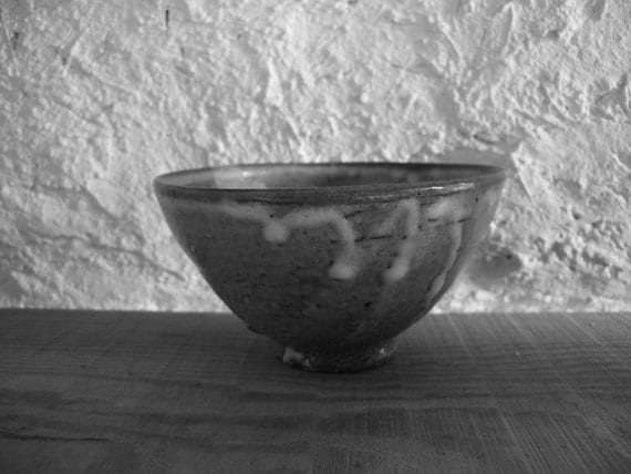 Ash glazed bowl 1891, underglaze iron decoration, wood fired