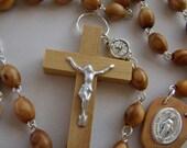 Custom Order for Amanda M., Olive Wood Rosary (MADE TO ORDER)