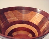 Large Wooden Bowl- Rosewood Bowl-Multi Wood Bowl