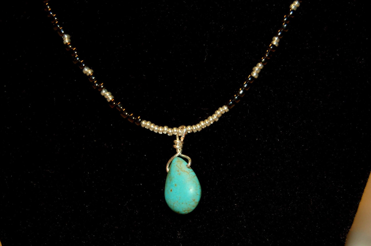 turquoise teardrop pendant necklace turquoise necklace
