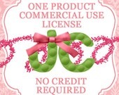 Single Product Commercial Use / Professional Use License for JC Sweetpea Designs