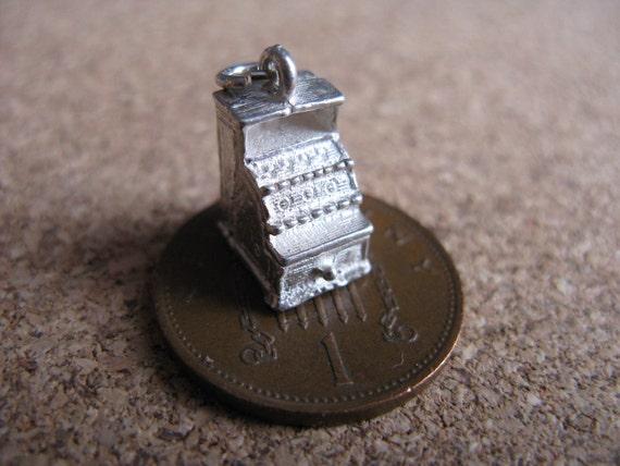 Vintage Silver Cash Register Charm