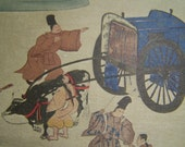 Vintage French Postcard Reproduction of Japanese Painting For Collecting Sending Collage