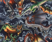 Alexander Henry 'Tale of the Dragon' Fabric- 1 Yard