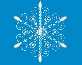 INSTANT DOWNLOAD Embroidery Design Snowflake Christmas Decor CHR014