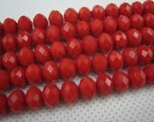 crystal bead, crystal faceted rondelle 8x5mm,15 inch