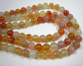 stone bead,sunset color agate round bead 10mm,15 inch