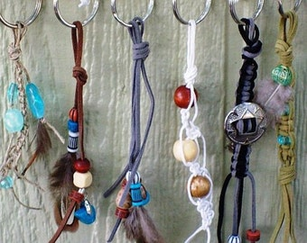 Western Key Ring Collection of 5 - One For Each Member of the Family.  FOR THE HORSES.