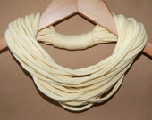 Upcycled T-Shirt Necklace / Scarf in Buttercream Pastel Yellow
