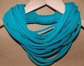Upcycled T-Shirt Necklace/Scarf in Teal